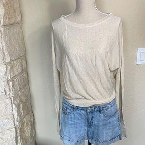NWT Zara Knitwear Linen Dolman Sleeve Top
